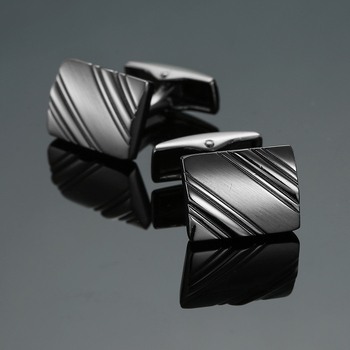 New Arrive Shirt Men steel Laser Engraving Cuff Links For Wedding Party Fashion 1