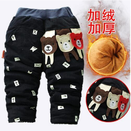 1-3 years old boy's trousers children with velvet thickening outside wear 2 winter baby corduroy panty nine months baby pants