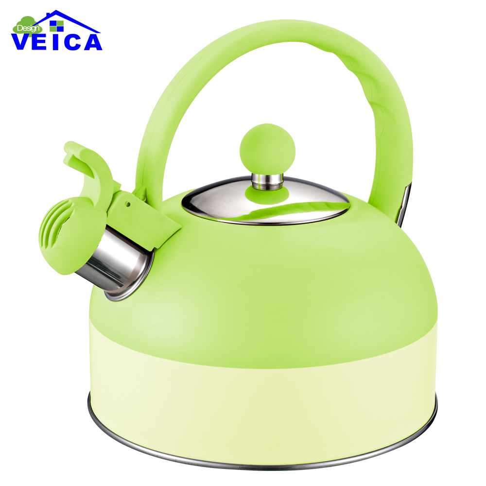 Hot Sale Double Colors Stainless Steel 2L Water Kettle Induction Cooker Camping Kettles Furnace Stove Whistling Teapot Tools
