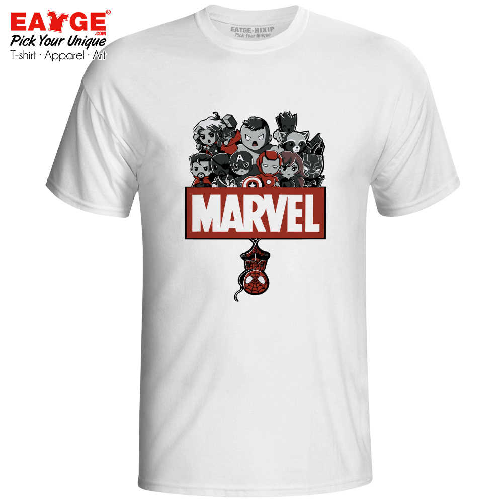 Marvel Avengers T-shirt Superhero Ironman Spiderman Novelty Punk Brand T Shirt Casual Hip Hop Anime Women Men Top Tee
