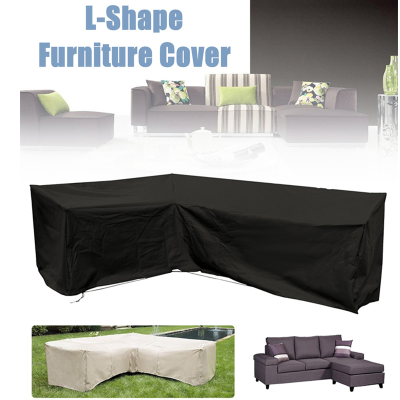L Shape Cover Patio Sofa Furniture Couch Cover Waterproof Dustproof for Moving Sunscreen LBShippingL Shape Cover Patio Sofa Furniture Couch Cover Waterproof Dustproof for Moving Sunscreen LBShipping