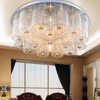 Led e14 Paslanmaz Çelik Kristal Dim LED Lambası. LED Işık. Tavan Işıkları. LED Tavan Işık. Tavan Fuaye Yatak Odası Salon Için lamba