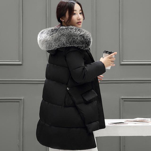 Mulheres Jaqueta de Inverno e Casaco 2016 Nova Moda Das Mulheres de Inverno Jaquetas de Algodão para baixo Parka Quente Grosso Casaco Feminino Plus Size L009