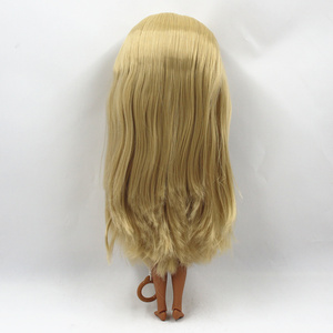 Image 5 - Special Price Blyth Joint body Nude Doll straight blond hair with/without bangs new matte shell dark Skin 30cm Suitable For DIY