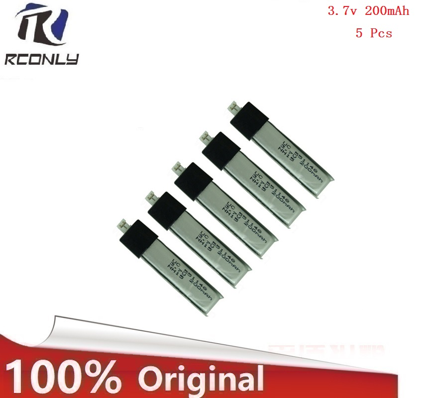 HOT 5 Pcs 3.7V 200mAH Lipo Battery for WL V911 RC Helicopter Spare Part NEW Your Best Choice