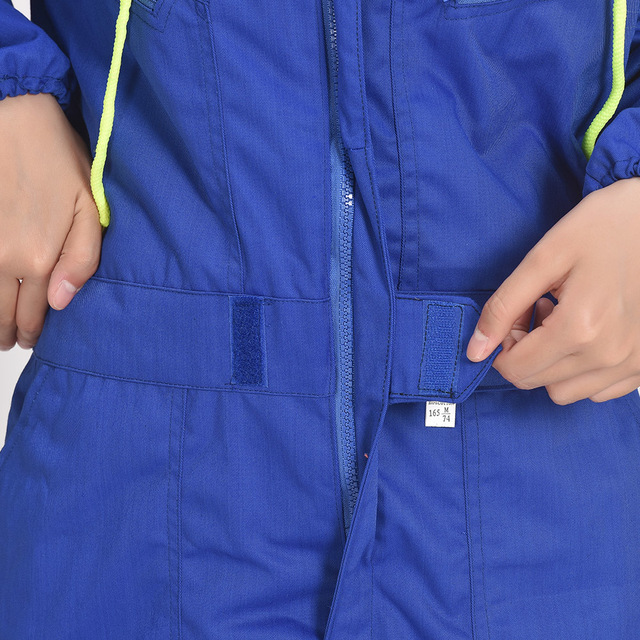Plus size Male Reflective strip jumpsuit Men Work Wear hooded uniforms Fashion Labor protection Tooling Coveralls A60901 4