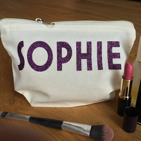 Custom names Bridesmaid Makeup Make Up comestic Lingerie Bags Maid of Honour Unique Gift for Bridal Party purses