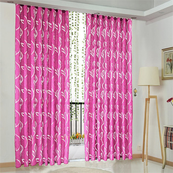 1 Pc Vines Leaves Tulle Door Window Curtain Drape Panel Sheer Scarf Valances Curtains For Living Room Bedroom Gordijnen