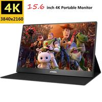 15.6 4K Portable Monitor 2HDMI DP type C FHD 3840x2160 IPS LCD 60FPS Video Gaming Monitor for Raspberry Pi PS3/PS4/Xbox 360
