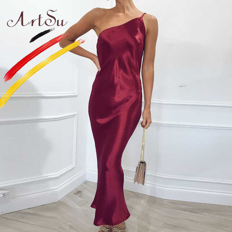 5ac15138560a0 Detail Feedback Questions about ArtSu Gold Color Sexy Satin Maxi ...