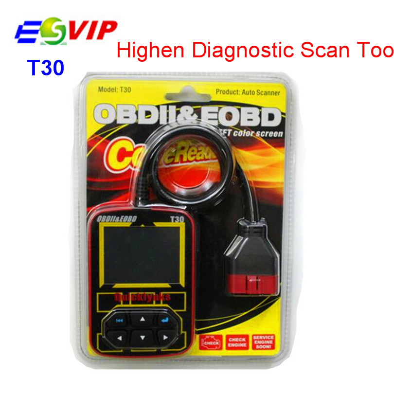 5pcs High Quality OBDII EOBD JOBD T30 Highen Diagnostic Scan Tool Auto Code Reader Tool