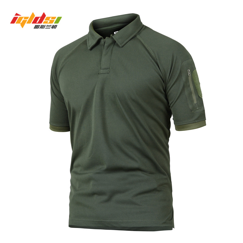IGLDSI Men's Military Camouflage Tactical Polo Shirt New 2018 Summer Camo Army Polo Man Brand Breathable Quick Dry Short Shirts