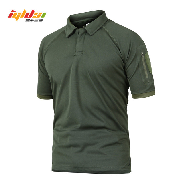 5061f6d9 IGLDSI Men's Military Camouflage Tactical Polo Shirt New 2018 Summer Camo  Army Polo Man Brand Breathable