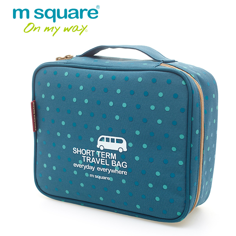 M Square Women Cosmetic Bag Organizer Travel Storage Wash Toiletry Bags Beautician Makeup Organizer Pouch Beauty Make Up Cases multifunctional women makeup storage bag travel pouch hanging toiletry organizer