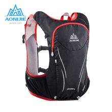AONIJIE 5L Women Men Marathon Hydration Vest Pack For 2L Water Bag Cycling Hiking Bag Outdoor Sport Running Backpack цена