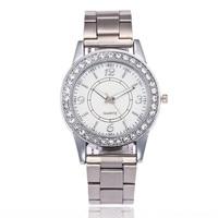 Silver Classical Watch Women Luxury Brand Crystal Ladies Bracelet Watches Fashion Casual Quartz Wristwatch Relogio Feminino