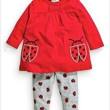 Toddler Outfits Ladybug Pants Newborn Baby-Girls Infant Cartoon 2pcs Tops Long-Sleeve