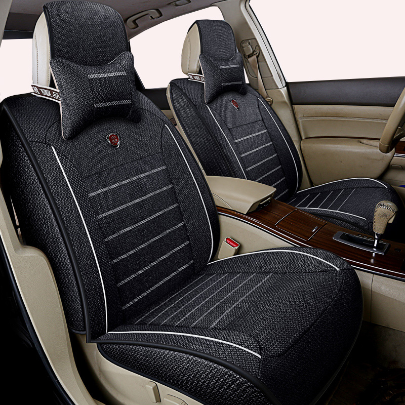 High quality linen Universal car seat cover for fiat 500 500x albea bravo ducato freemont linea