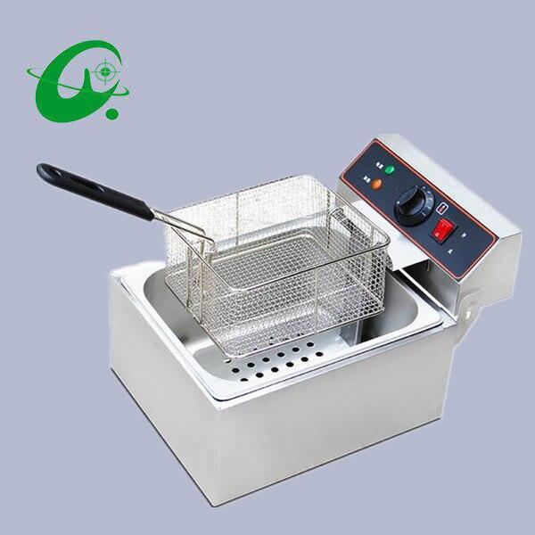 Puce électrique commerciale de pomme de terre de friteuse d'air de l'acier inoxydable 6L/frites/friteuse d'huile de poulet