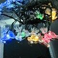 ALCES Lámpara Solar Luz de la Secuencia de 20 LED Luces de la Secuencia Al Aire Libre para Al Aire Libre Home Garden Party de Navidad Año Nuevo Decoración Impermeable