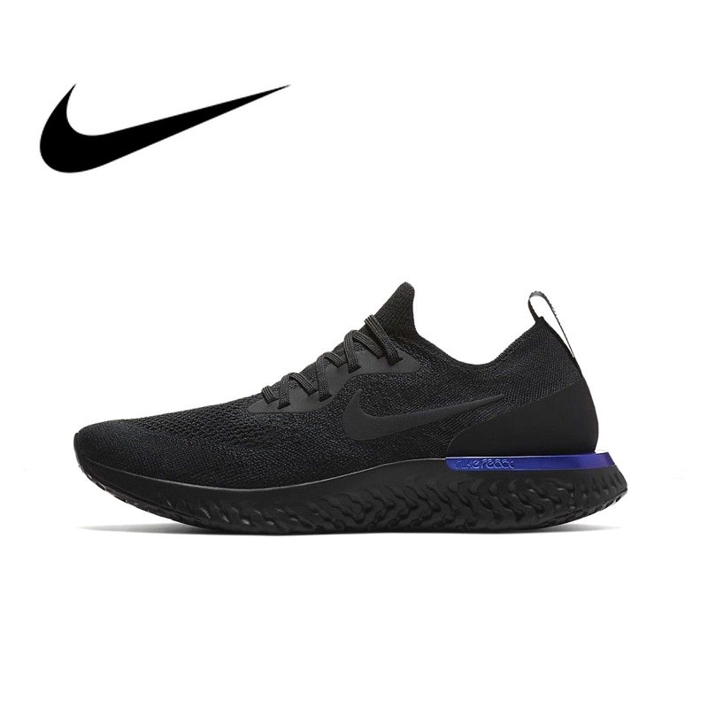 f17569e61ec69 Original Authentic Nike Epic React Flyknit Men s Breathable Running Shoes  Sport Sneakers Athletic 2018 New Arrival