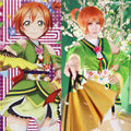 Lovelive Love Live Angelic Angel Hoshizora Rin Kimono Uniform Dress Outfit Anime Cosplay Costumes