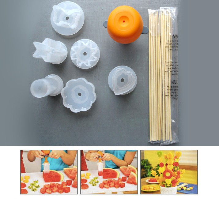 Creative Kitchen Accessories Cooking Tools Plastic Fruit Shape Cutter Slicer Veggie Food Decorator Fruit Cutter 1