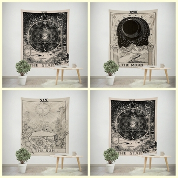 Tarot Hanging Tapestries Sun Star Moon Tapestry
