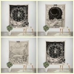 1pc Tarot Hanging Tapestries Sun Star Moon Tapestry Hippie Wall Hanging Blanket Wall Carpet Yoga Mat Home Decor YYY9693