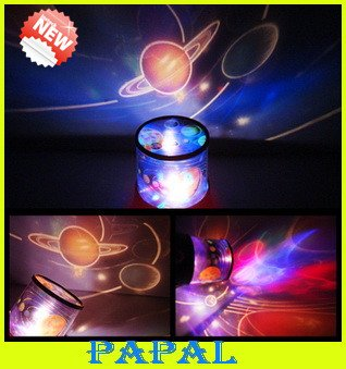 Awesome FREE SHIPPING Solar System Nine Planets Projector Lamp,LED Night Light  Projector Lamp