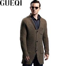 Gueqi brand men black long cardigan size m 2xl winter warm v neck man casual cashmere.jpg 250x250