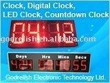 Outdoor led temperature display clock