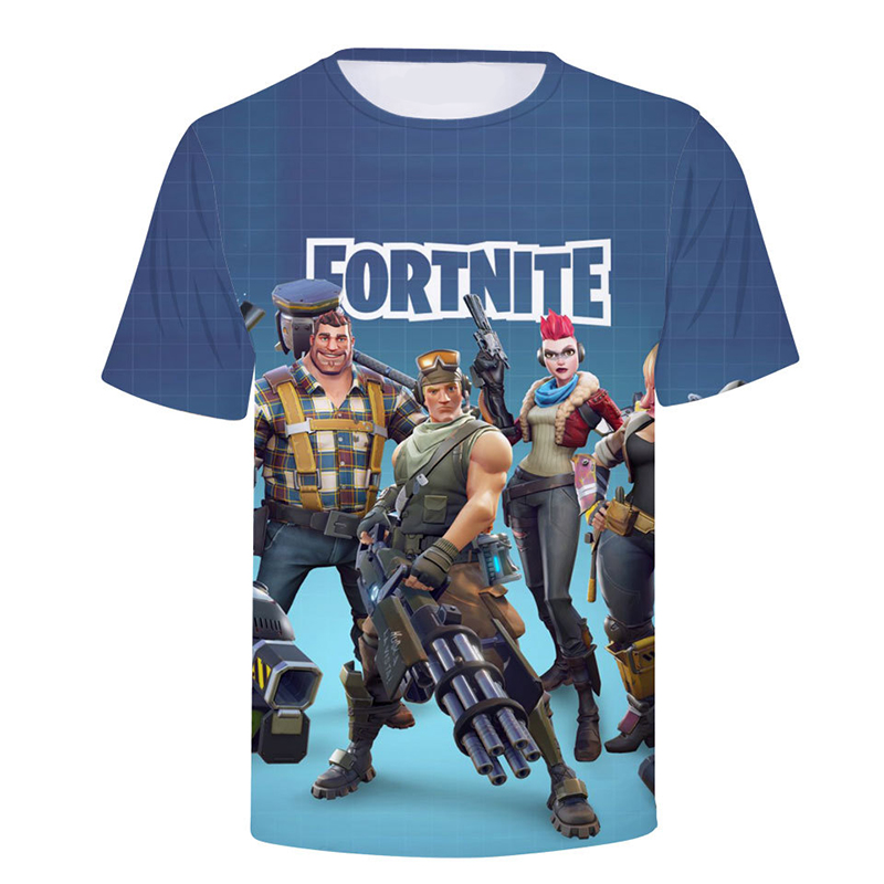 Men Women Brand New Fortnite T shirt Hot Hip Hop Men Streetwear Skateboard Men Game Characters Printed 3D Tshirt Hip Hop T-shirt