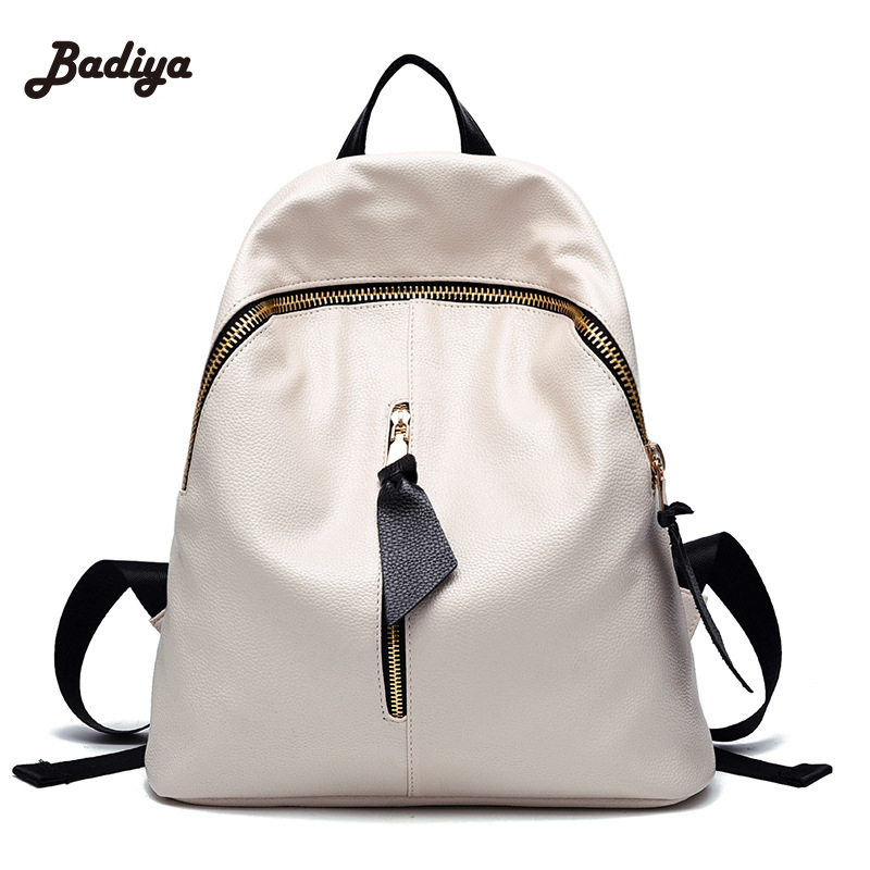 Popular New College Wind Schoolbag Washed Leather Backpack Woman Korean Tidal Fashion Leisure Sac Travel Bag