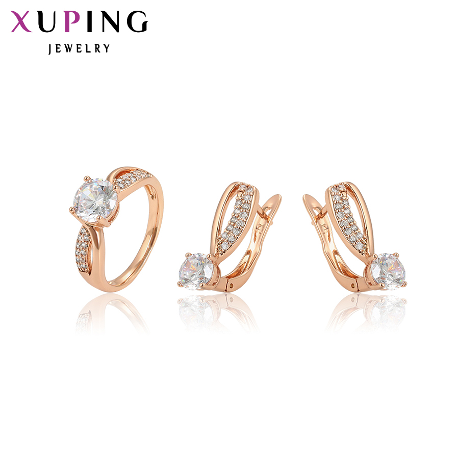 11.11 Xuping Fashion Jewelry Sets Romantic Fantastic Charm Women Sets Rose Gold Color Plated Jewelry Mother's Day Gifts 64984