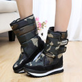 Warm winter snow boots male cotton-padded non-slip waterproof ski plus thick velvet SUB1274