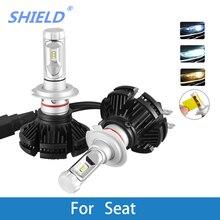 LED Car Headlight Bulb H4 H7 H11 H1 H3 H8 H9 9005 9006 12V 12000LM LED Auto Lamp For Seat leon/ibiza/altea/ateca/cordoba/exeo 2 pcs car led headlight kit h4 h7 led 9006 9005 h1 h3 h11 80w 6000k 12000lm csp chips for seat ibiza leon altea toledo arosa