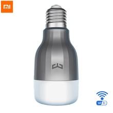 100% оригинал Сяо Mi Ми yeelight 2 светодиодные лампы Цвет ful версия Wi-Fi Пульты дистанционного управления регулируемый Цвет Температура 16 миллионов RGB