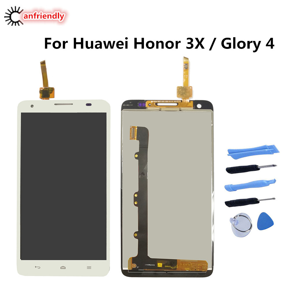 For Huawei Honor 3X/Glory 4 G750 T00 LCD Display+Touch Screen Replacement Digitizer Assembly Phone For Huawei Honor 3 X G750