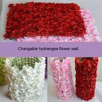 Hydrangea flower wall wedding party celebration decoration arched flower door road line flowers