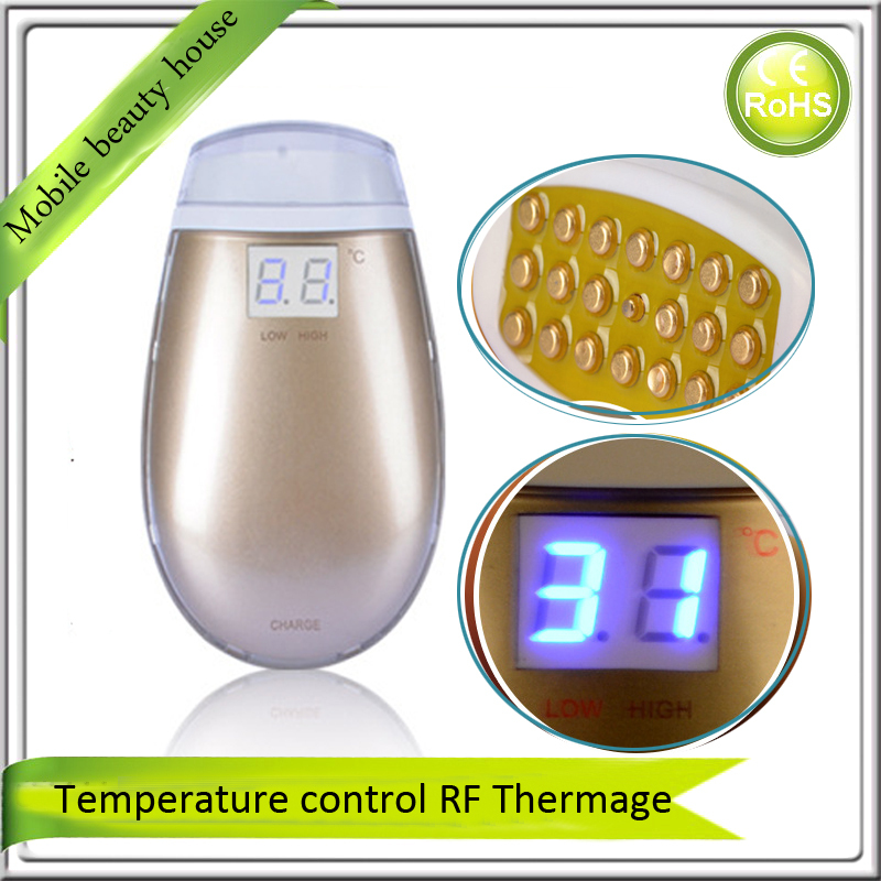 Mini Compact Size Fractional RF Radio Frequency Thermage Thermagic Face Eye Beauty Device For Skin Lifting Wrinkle Removal inteligent temperature control lcd display mini fractional rf thermage skin lifting beauty wrinkle remove device free shipping