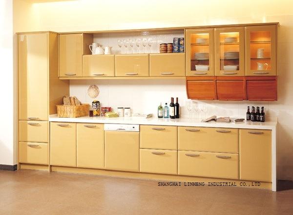 Lacquer Kitchen cabinet(LH-LA017)