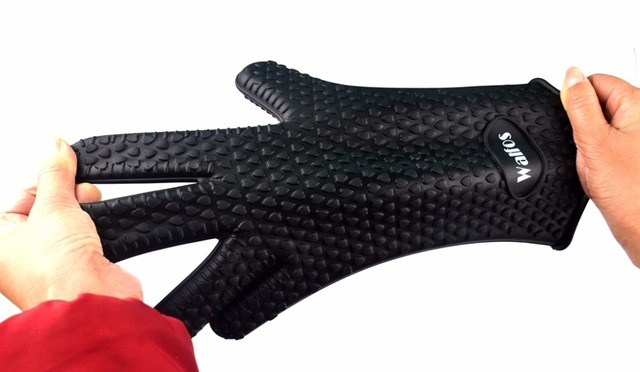 Heat Resistant thick Silicon Glove (1 piece) – Kitchen Barbecue Oven Cooking glove BBQ Grill Glove Oven Mitt Baking Glove