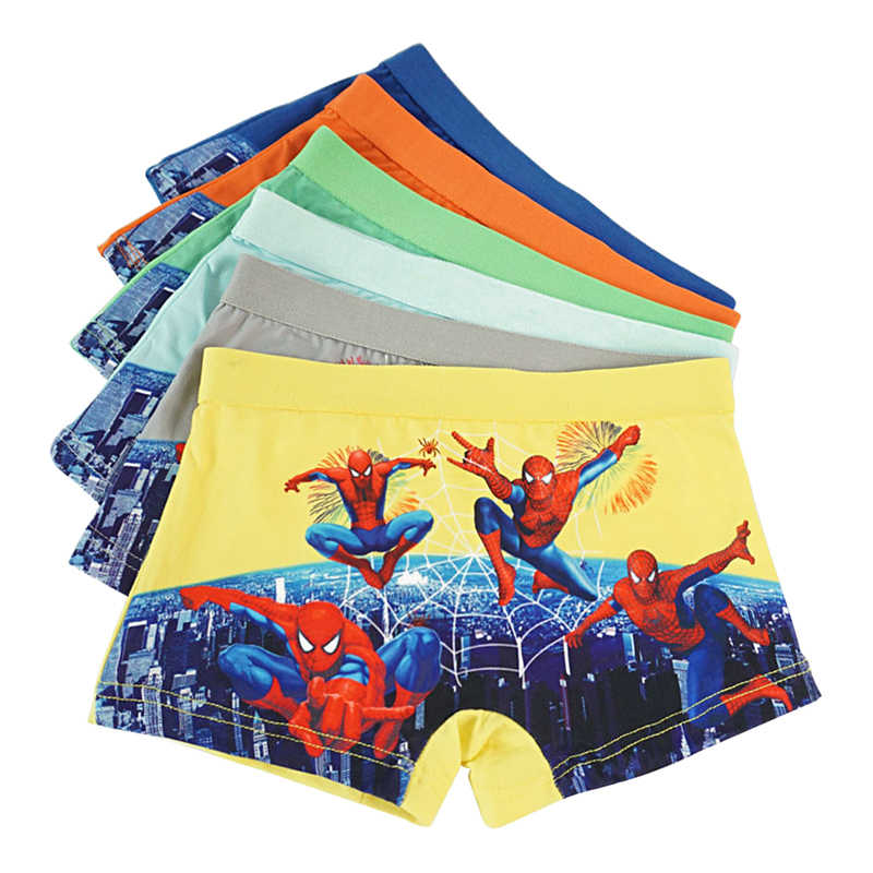 6255321096789 12 pcs/lot Baby Underwear kids Boy Panties Cartoon Spider-man Underpants  For Children