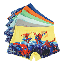 12 pcs/lot Baby Underwear kids Boy Panties Cartoon Spider-man Underpants For Children Shorts Boys Cute Fashion Briefs