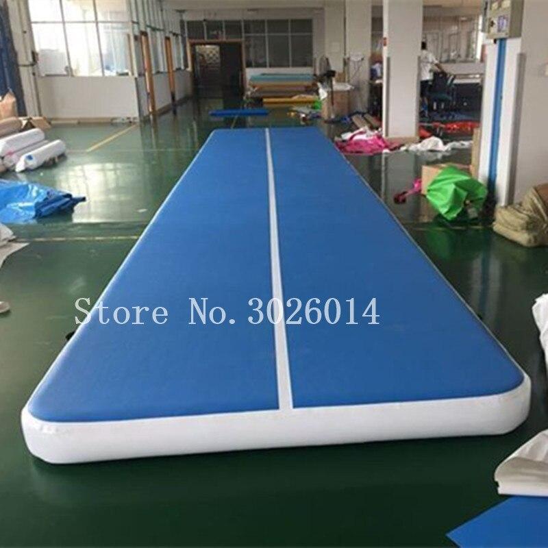 Livraison gratuite 4 m/5 m/6 m gymnastique Tumbling Mats Air Tumbling Track gymnastique tapis Air tapis de sol pour l'entraînement de gymnastique à la maison