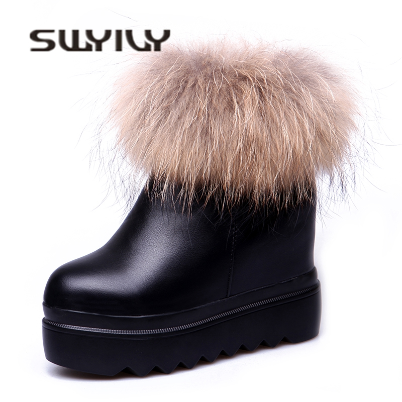 Terciopelo Femenina 201 Zapatos Ankel Swyivy Negro Fur Plataforma Acolchado  Botas Snowboots Señora Nieve Top Caliente Mujer Invierno Nueva Algodón ... 661d34742d95