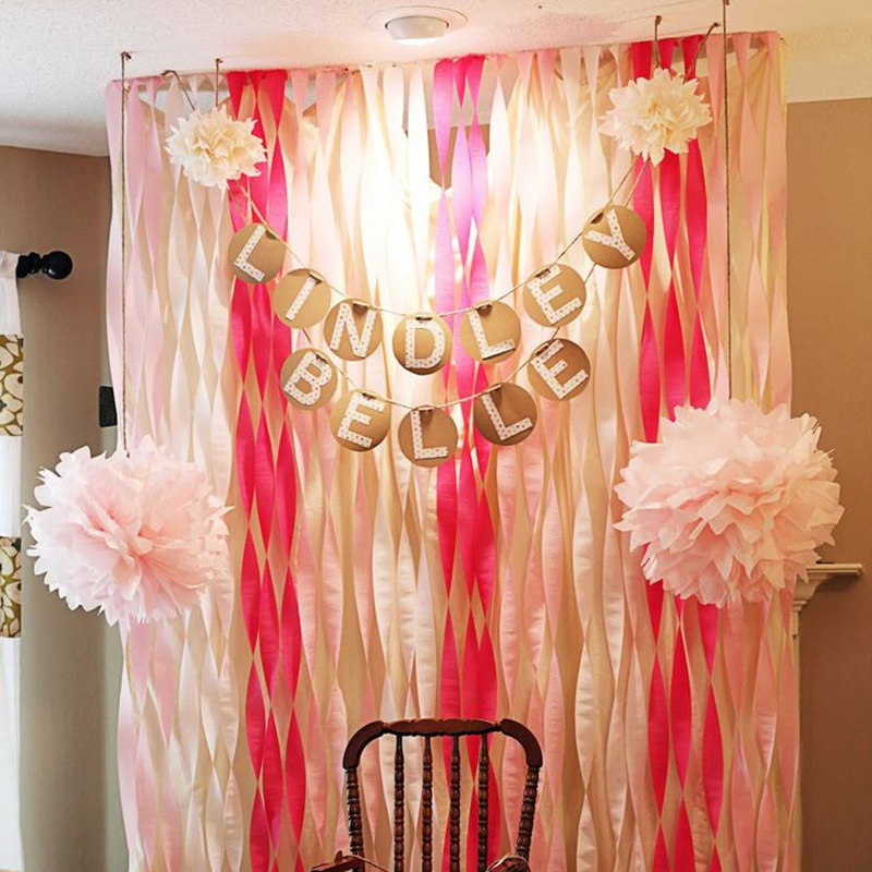 How to make a backdrop for a baby shower