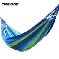 SGODDE 1 Set Portable 120 Kg Load Bearing Outdoor Garden Hammock Hang Bed Travel Camping Swing