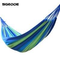 SGODDE 1 Set Portable 120 Kg Load Bearing Outdoor Garden Hammock Hang Bed Travel Camping Swing